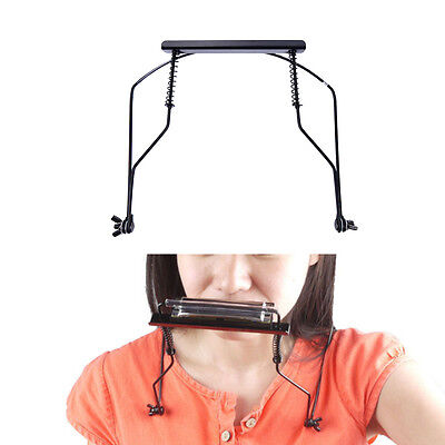 Adjustable Suitable 10 Hole Harmonica Neck Rack Mount Holder Stand TO