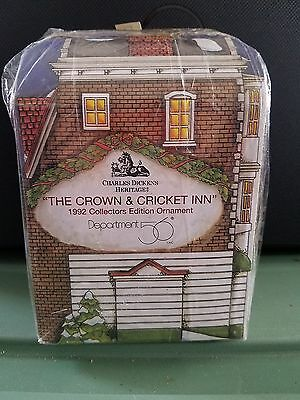 Dept 56 The Crown & Cricket Inn 1992 Collector Edition Dickens Heritage Ornament