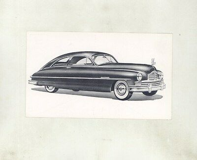 1949 1950 Packard Fastback ORIGINAL Factory Postcard ft2073