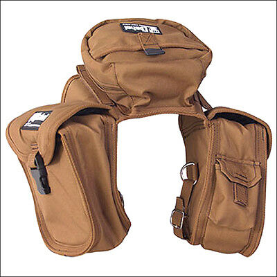 Small Classic Equine Horse Tack English 600D Saddle Front Bag Brown