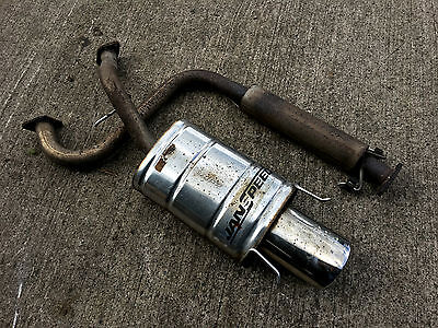 Mg Zr Janspeed Stainless Oval Pipe Exhaust Backbox & Middle Section 1.8 Vvc 160