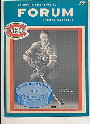 4/1/1965 Montreal Canadiens Toronto Maple Leafs Stanley Cup Program + Extras
