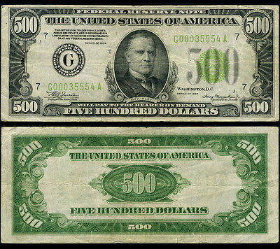 FR. 2201 G $100 1934 Federal Reserve Note Chicago DGS Very Fine