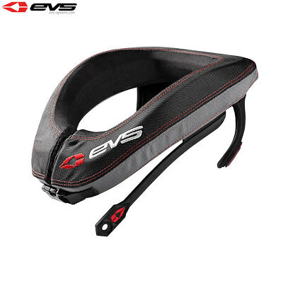 EVS R3 Motorcycle Motorbike Neck Protector Including Armour Straps Adult - Black