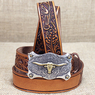"""30"""" Childrens Tony Lama Lil Tex Name Blank Tan Leather Belt Made In The Usa"""