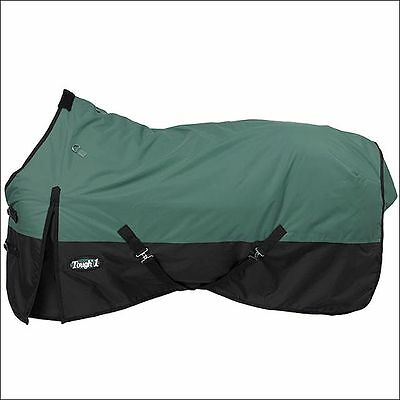 "60"" Tough-1 600D Waterproof Poly Horse Surcingles Turnout Blanket Green Hunter"