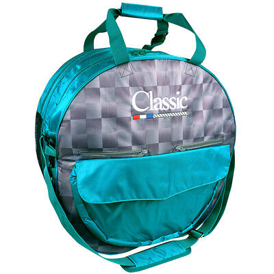 Classic Equine Horse Roper Mesh Padded Compartment Deluxe Rope Bag Check Teal