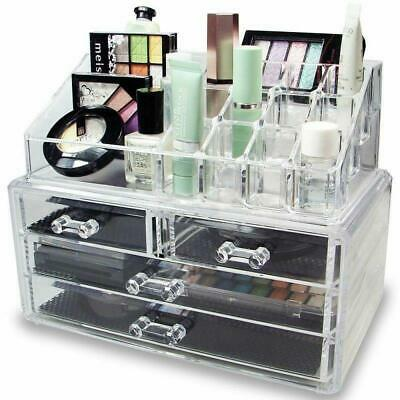 Beauty Cosmetic Organizer 4 Drawer Drawer Jewelry Makeup Case Storage Holder Box
