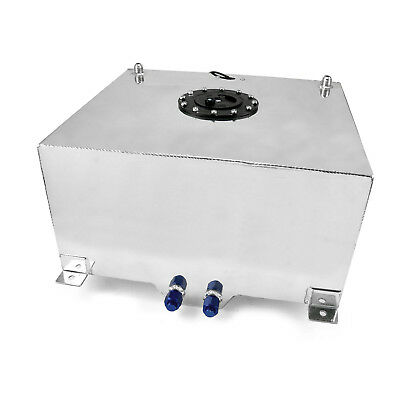15 Gallon / 57 Litre Lightweight Polished Aluminum Fuel Cell w/ Sender