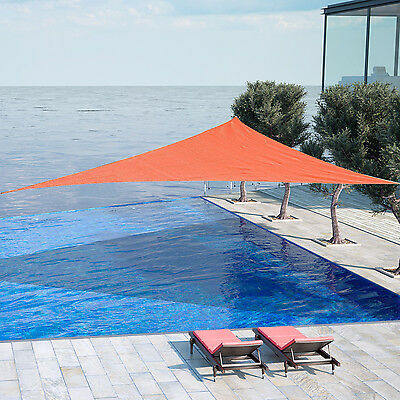 Outsunny Voile d'Ombrage Toile Solaire 4 x 4 x 4m Anti-UV HDPE Rouille