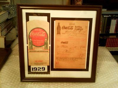 Coca - Cola Rare Original Vintage 1920's Framed Memorabilia Lot - Excellent!