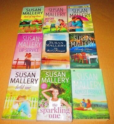 SUSAN MALLERY Lot of 6- ROMANCE/SOFTCOVERS -Hold Me, Almost Home, Before We Kiss