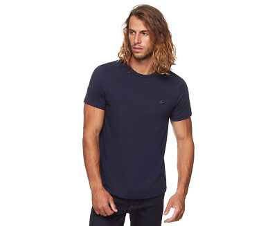 Tommy Hilfiger Men's Flag Crew Tee - Dark Navy
