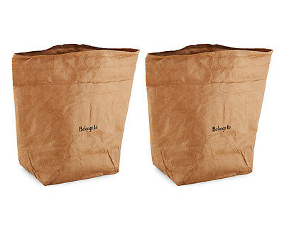 Icon Chef Insulated Re-useable Paper Lunch Bag 2-Pack - Brown