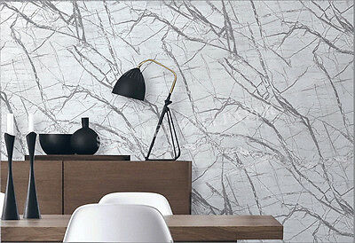 Modern Marble stone look Grey wallpaper industrial shop fitting wall paper roll