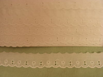 Broderie Anglaise Flat White  Lace - 27. metres (4720)