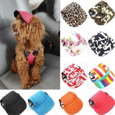 Dog Baseball Hat Summer Canvas Cap Only For Small Pet Dog Outdoor Accessories Q