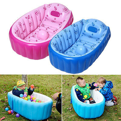 Portable Baby/Kid/Toddler Inflatable Newborn Thick Summer Bathtub(0-3 years old)