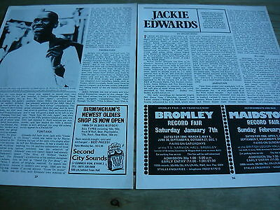 Jackie Edwards - Magazine Cuttings (Article)