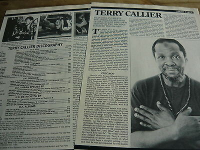 Terry Callier - Magazine Cuttings (Article)