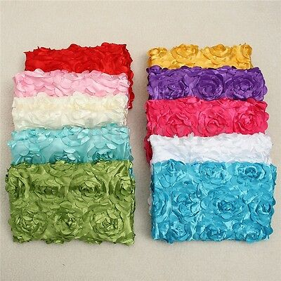 Newborn Photography Props Baby Photo 3D Rose Flower Backdrop Blanket Multicolore