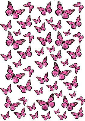 Edible Wafer Paper Butterflies for Wedding Cake Cupcakes Mixed Butterfly Toppers