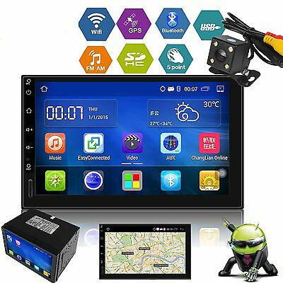 "Autoradio 7"" Écran Tactile 2DIN Stereo GPS Bluetooth Android 5.1 Wifi 3G Navi FM"