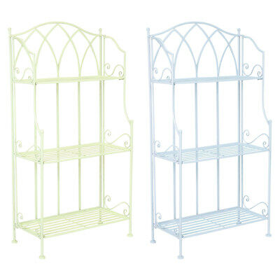 Charles Bentley Garden Wrought Iron Plant Rack - Available In Green Or Blue