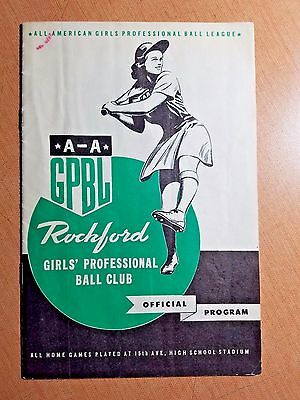 1944 Rockford Peaches Program Minneanapolis Millerettes DOTTIE KAMENSHEK AAGPBL