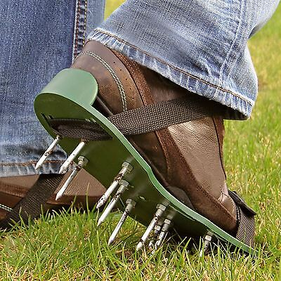 Parkland Garden Lawn Aerator Aerating Sandals/Shoes 13 x 5cm Spikes