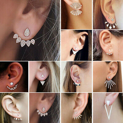 1 paire  Mode de femmes Lady Crystal Rhinestone Ear Stud bijoux Earrings