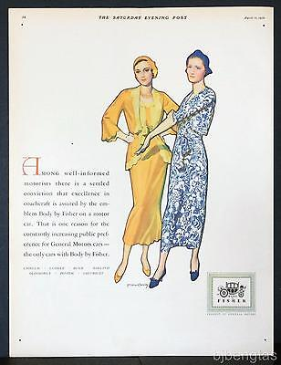 1931 Body by Fisher Excellent Coachcraft McClelland Barclay Art Vintage Print Ad