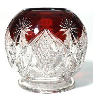 EAPG - Westmoreland Specialty - STERLING - Rose Bowl - Ruby Stain