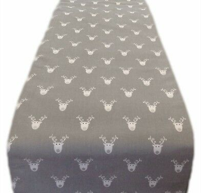 TABLE RUNNER-made in SCANDI BIRDS GREEN grey lined  xmas runners bird