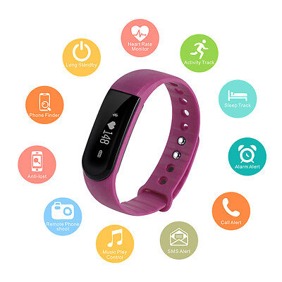 Smart Band Heart Rate Monitor Bracelet Watch Bluetooth SMS Fitness Tracker AC662