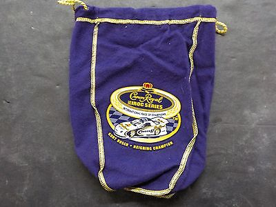 CROWN ROYAL IROC Series Kurt Busch Reigning Champion Felt Bag