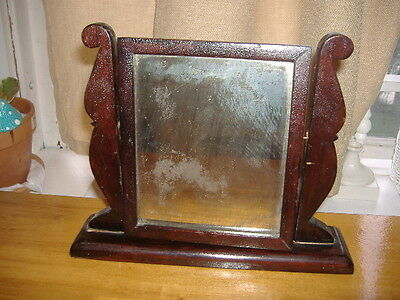 Antique Dollhouse Dresser Swivel Mirror-Only Mirror-Replacement Restoration