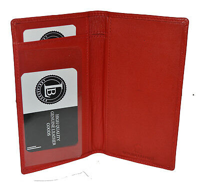 Checkbook Cover Holder Super Slim Plain Mens Womens Genuine Leather Cowhide New