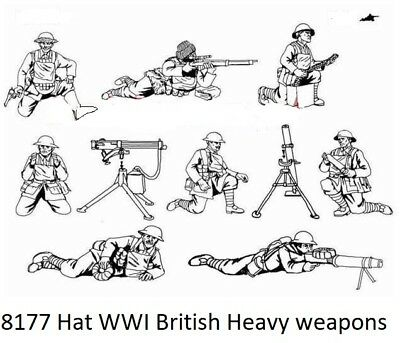 Hat 1/72 Scale WWI British Heavy Weapons . Model Kit - Contains 1 Sprue