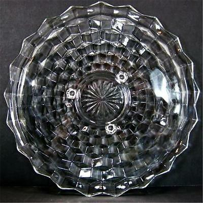Fostoria American 12.5in 3 Footed Toed Platter Cake Plate # 2056