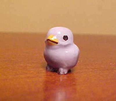 Hagen-Renaker Mini #495 BABY TWEETIE in BLUE - Miniature Ceramic Bird Figurine