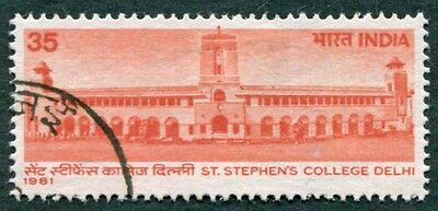INDIA 1981 35p SG998 used NG St. Stephen's College Delhi Centenary #W26