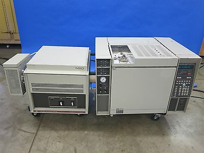HP 5890 GC Gas Chromatograph with MSD Mass Selective Spectrometer Detector