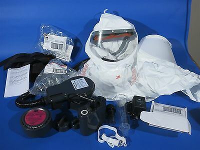 3m GVP Battery Powered Respirator - Full hood + spares Used once?