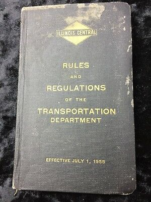 1958 Illinois Central Railroad Rulebook
