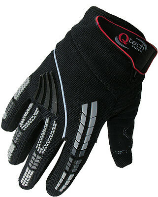 Childrens KIDS Motocross GLOVES Enduro BMX Off Road Racing Cycling in Black