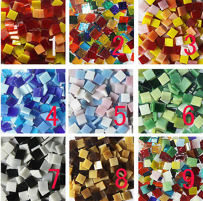 67pcs 10mm Stained Glass Mosaic 9 Color Series Multicolour Crystal Translucent