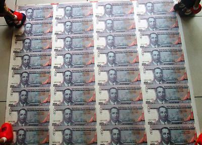 1999  32 UNCUT SHEET 100 PESOS specimen PHILIPPINES BANK NOTE Uncirculated