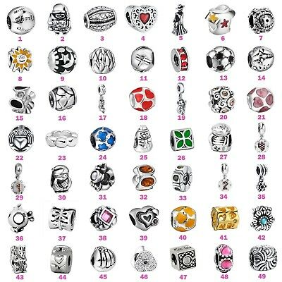 Fashion Jewelry Charms Bead For 3mm European 925 Silver Sterling Bracelet Chain
