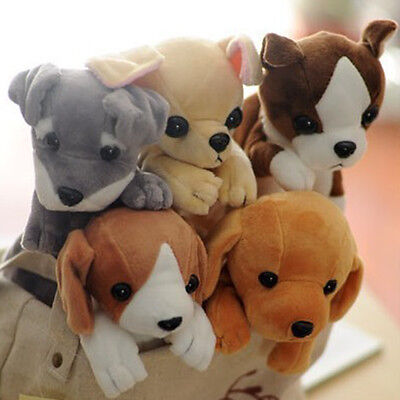 Soft Plush Cute Dog Pencil Case Pen Bag Pouch Cosmetic Makeup Bag Stationery UK